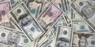 dólares EUA moeda câmbio nota cédula dinheiro